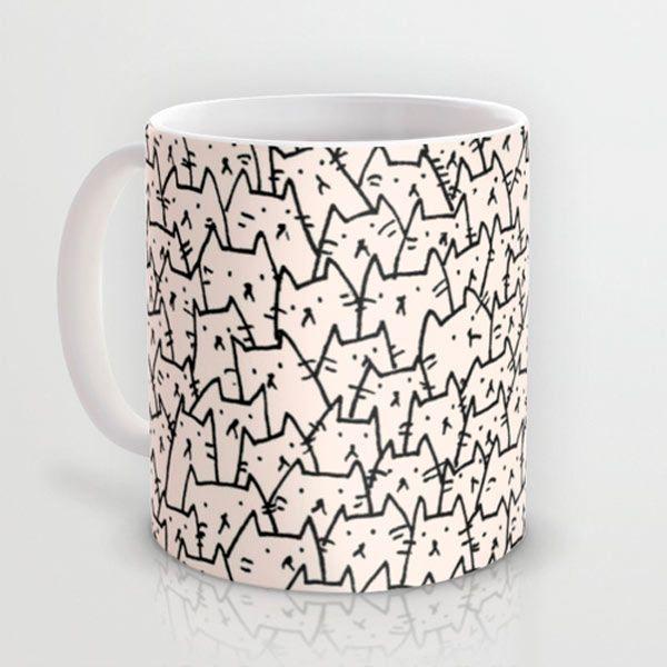 A Lot of Cats mug by Kitten Rain: