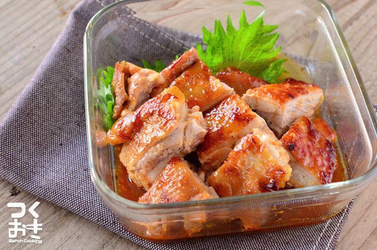 味噌と豆板醤を加えた少しピリ辛のてりやきです。辛さ控えめなので辛さの調整はお好みでして下さいね。