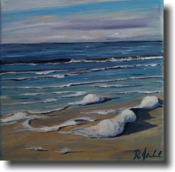 Gischt, oil on canvas, 20x20 cm  120 $