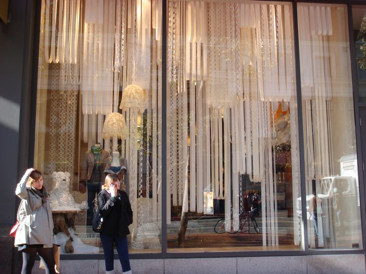 Anthropologie window displays are so inspiring festivity for Curtain display ideas