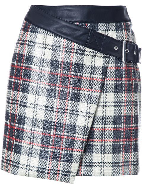 MCQ BY ALEXANDER MCQUEEN wrap-style checked skirt. #mcqbyalexandermcqueen #cloth #wickeloptik