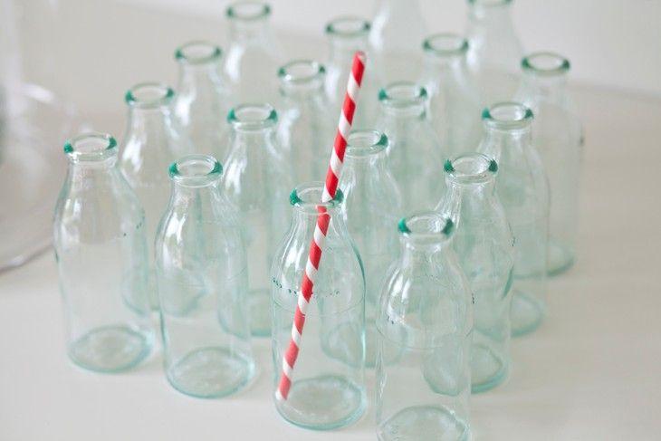 16 mini glass bottles 13cm 125ml birthday kids party for Bottle decoration ideas kids