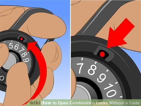 Open Combination Locks Without a Code