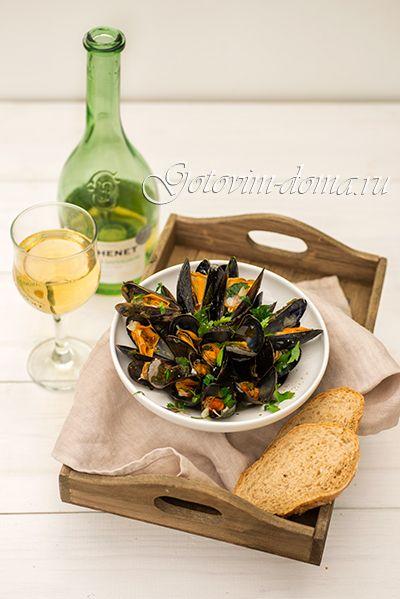 """Рецепт: Мидии """"Маринара"""" (Moules Mariniere)"""