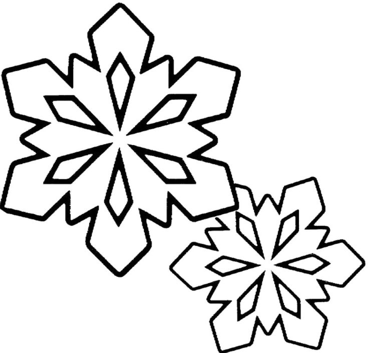 Winter Coloring Pages Snowflakes Clip Art Black And
