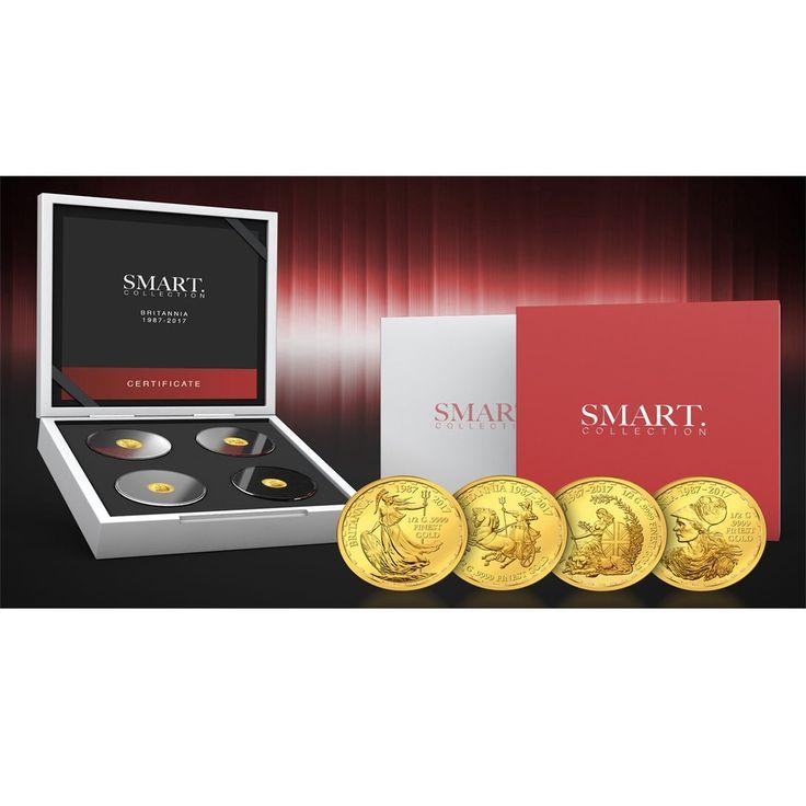 2017 Solomon Islands 4 X 1/2 Gram Smart Collection Britannia Gold Proof Coin Set