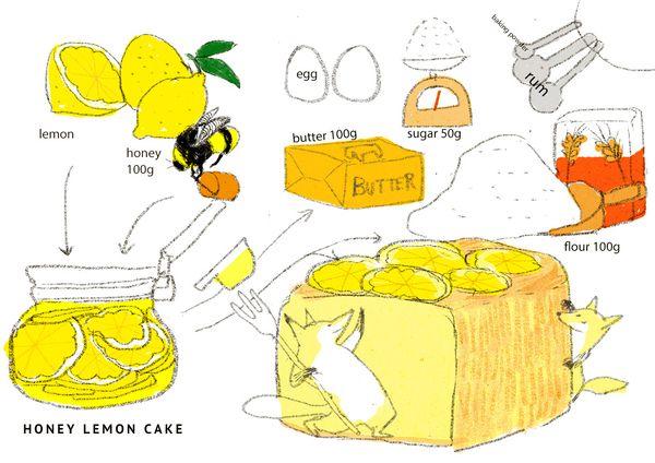 こがね色のはちみつレモンケーキ