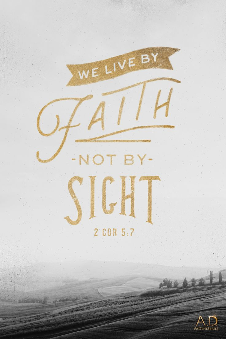 To live by faith is no small thing. 2 Corinthians 5:7 | A.D. The Series