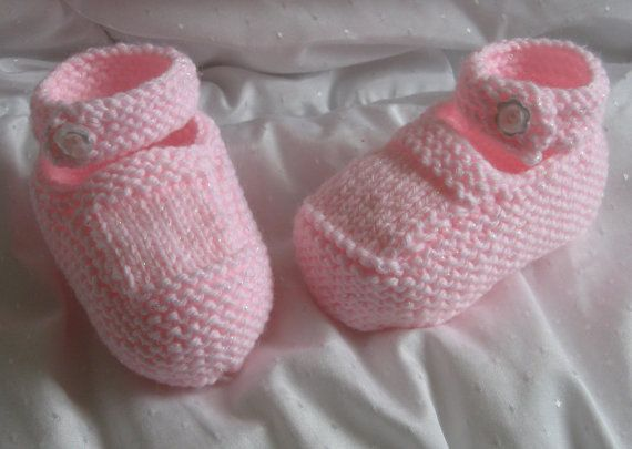 Baby Knitting Pattern Download - Baby Booties Shoes - Mary Jane Style - New D...