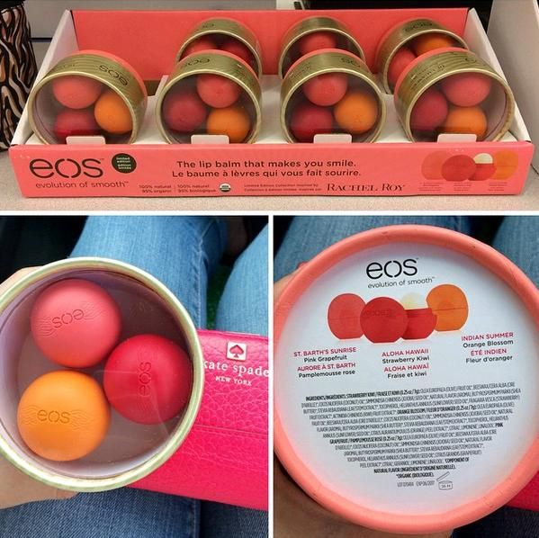 Spotted: eos Holiday 2014 Limited Edition Rachel Roy Lip Balm Set (NEW FLAVORS)