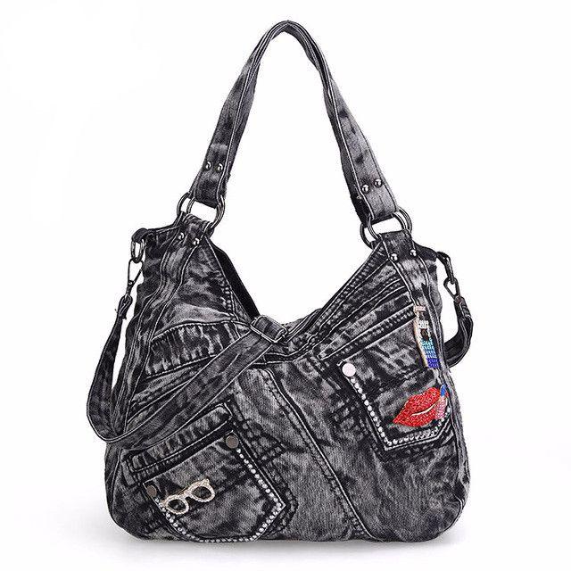 Casual Design Denim Jean Tote Bag