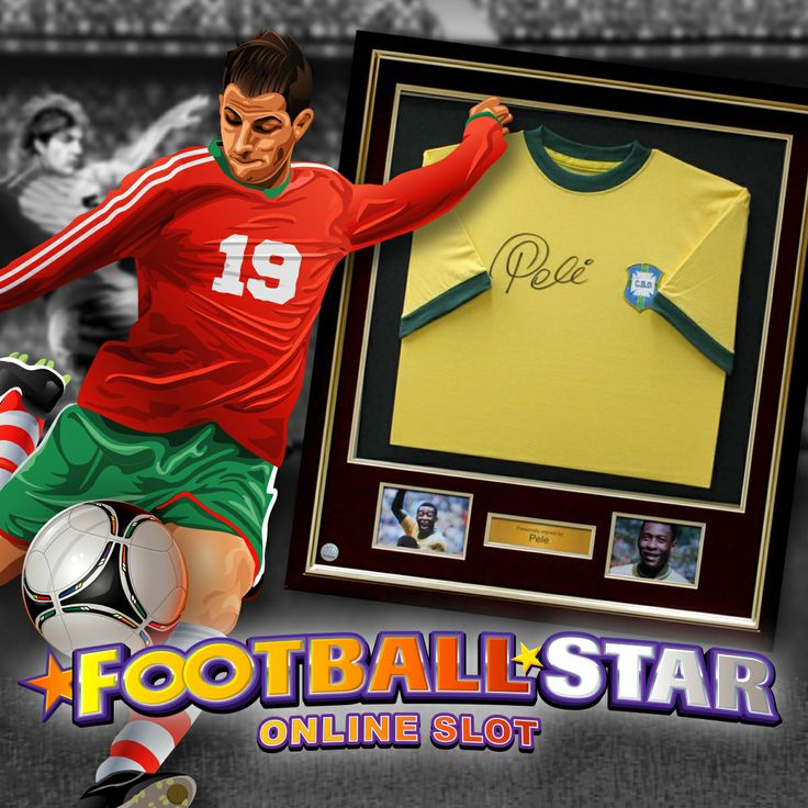 Shoot and score on the Football Star online slot.