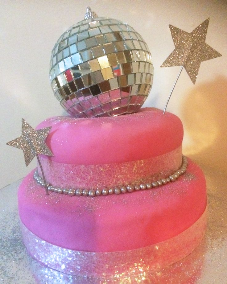 Disco Party Birthday Cake - from SIMONEmadeit.com