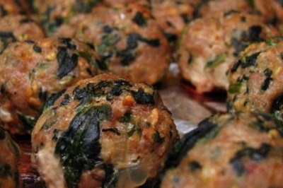 Baked Turkey Meatballs with Spinach by Home Cooking Memories