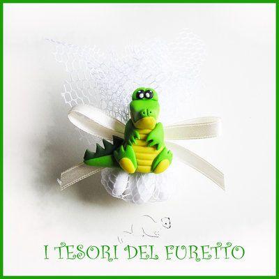 """Bomboniera Confetti """"SAVANA"""" COCCODRILLO  segnaposto nascita battesimo comunione…"""