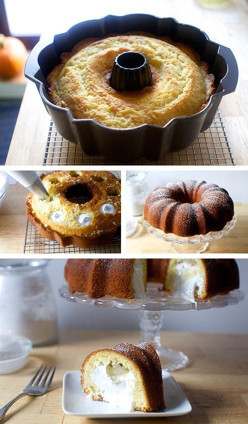 Obsessing over this cream-filled bundt cake inspired by Twinkies.