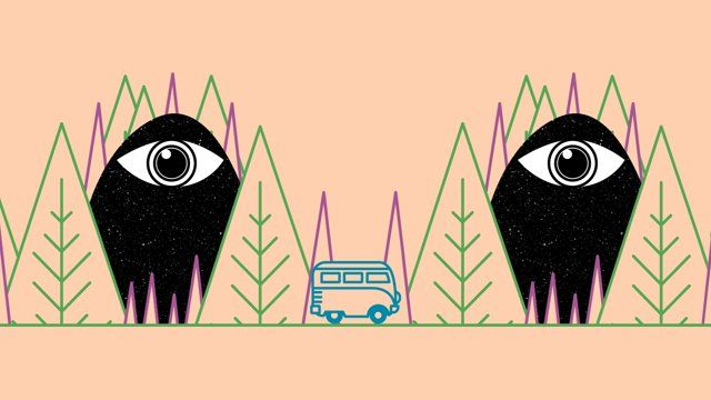 Don't drive under influence of psychedelic substances.   -- 'Cheiro Verde' is the name of the song. Buy it here: https://itunes.apple.com/br/album/cheiro-verde/id293437622?i=293437657 Kombi illustration based on the original Jesus Cardenas artwork: https://dribbble.com/shots/437667-VW-bus