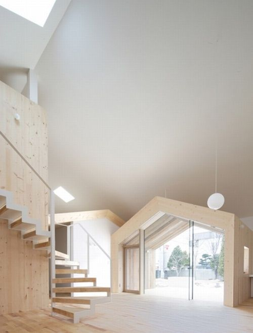 blonde wood and whiteHouse Design, White Spaces, Offices Design, Interiors Design, Wooden House, Japan Architecture, Design Home, Yoshichika Takagi, Modern Design