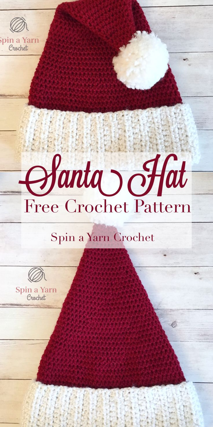 Luxurious Santa Hat - Spin a Yarn Crochet
