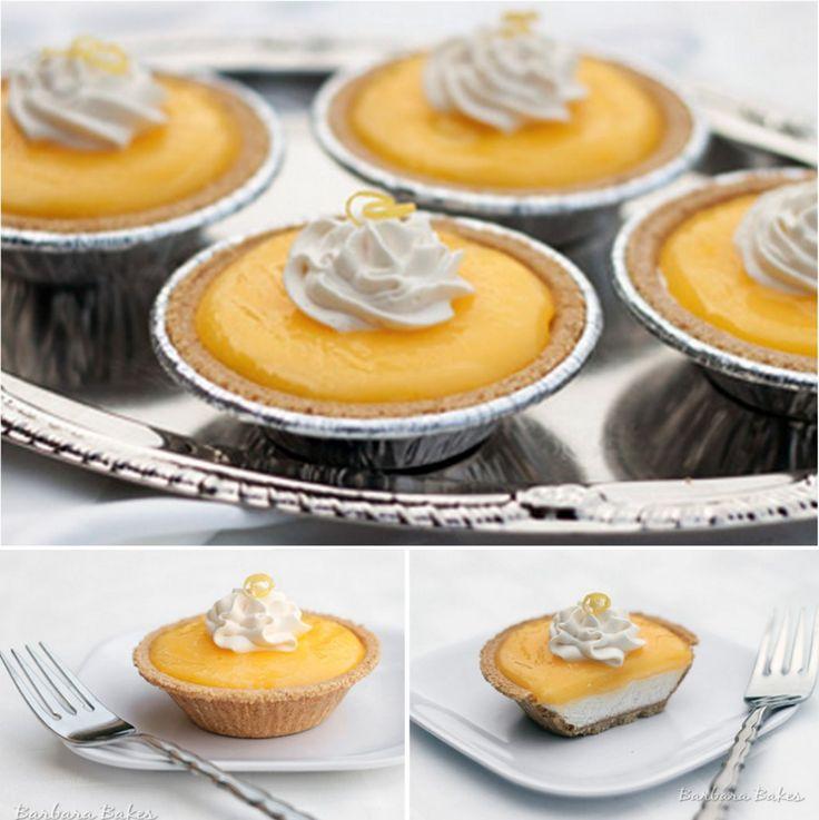 No Bake Mini Lemon Cream Cheese Pies