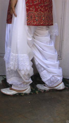 Lace Work Patiala Salwar + Dupatta - direct from Patiala City !!