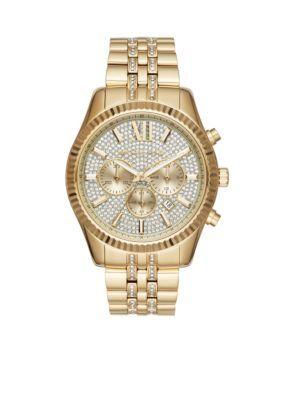 Michael Kors Men's Women's Gold-Tone Lexington  Chronograph Watch - Gold - One Size