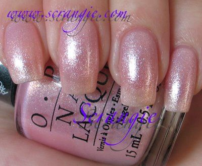 "Use this color (O.P.I. Princesses Rule!) as a base coat, then use white for the tips for a ""sparkly"" french manicure. LOVE!"