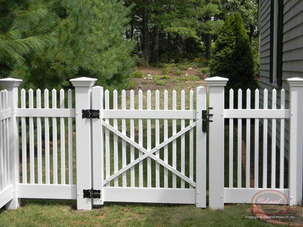White Picket Fence Gate Jamestown Vinyl Picket Gate