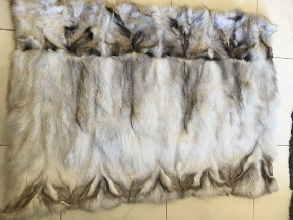 Blue fox  Sectional Fur Plate by skffurs on Etsy