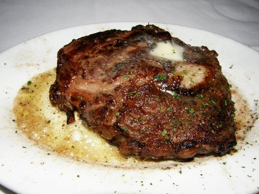 Ruth Chris-Ribeye with butter