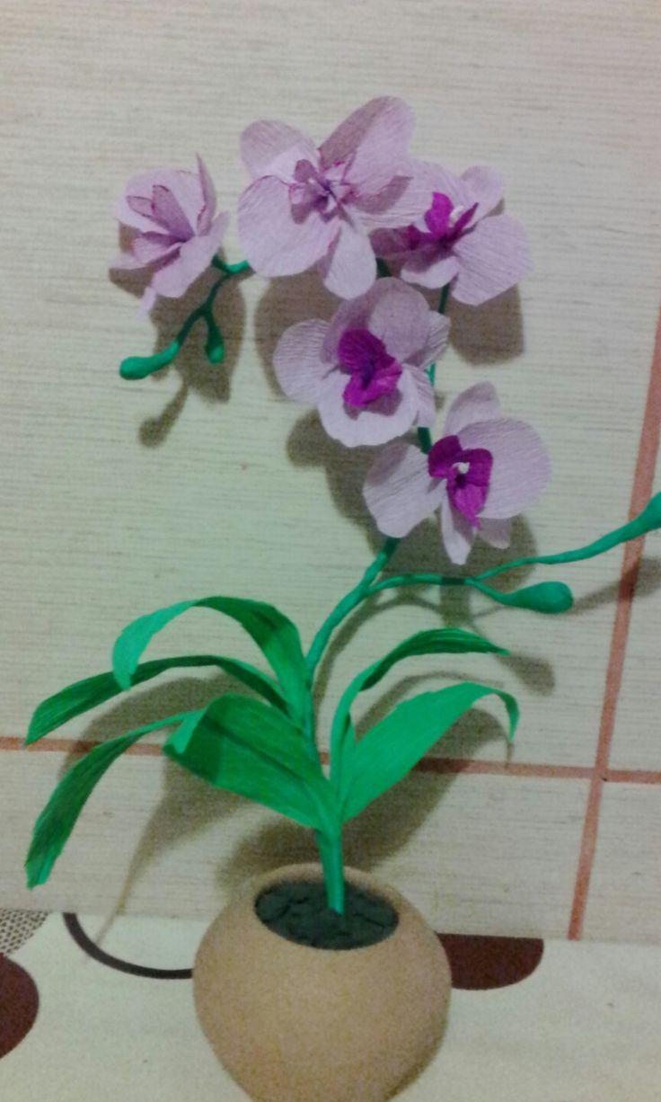 Flori hartie creponata