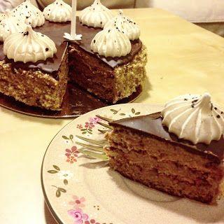 Én kicsi paleo konyhám: Csokis diókrémes torta
