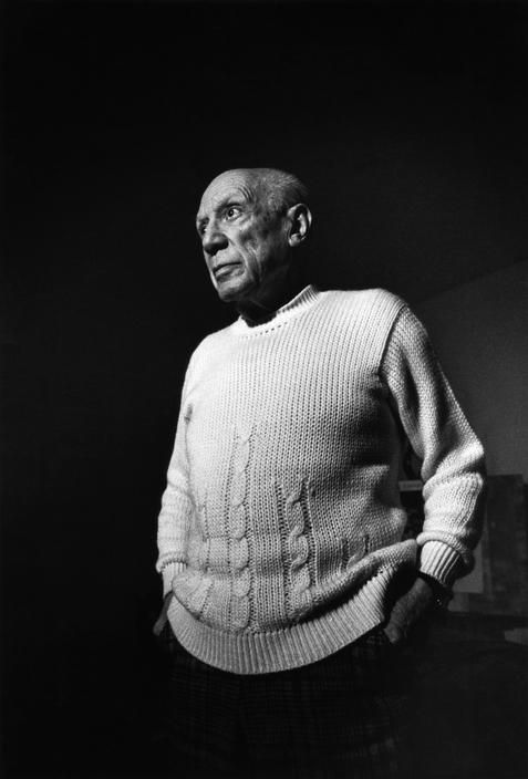 Pablo Picasso the Spanish artist in his studio at Notre Dame de Vie near Cannes, France, 1971, photo by Ara Güler (please repin with photographers credits)