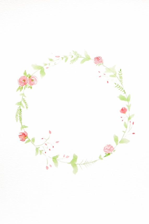 something that can use to add in poster. //    Watercolor Floral Wreath