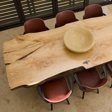 Salvaged wood dining table.