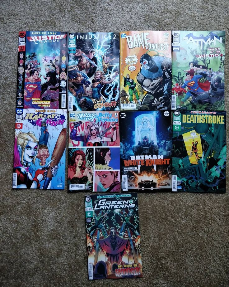 #DCComics #Comic pulls of the week for Kr0nus.  #JusticeLeague #Injustice2 #BaneConquest #Bane #Batman #HarleyQuinn #HarleyAndIvyMeetBettyAndVeronica #BatmanWhiteKnight #Deathstroke #GreenLanterns