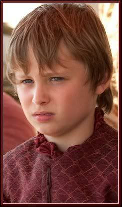 "Tommen Baratheon Last seen season 2 episode ""Blackwater"".  Status: Alive  Titles: Prince  Mother: Cercei Baratheon née Lannister  Father: King Robert Baratheon (deceased)  Biological Father: Jaime Baratheon (Tommen's uncle) (Unknown to Tommen)  Portrayed by: Callum Wharry"