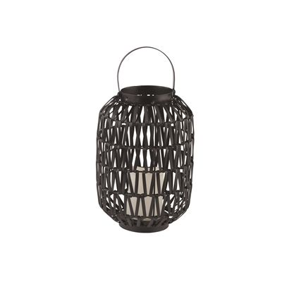Holiday Living Small Black Resin Outdoor Lantern with LED Candle