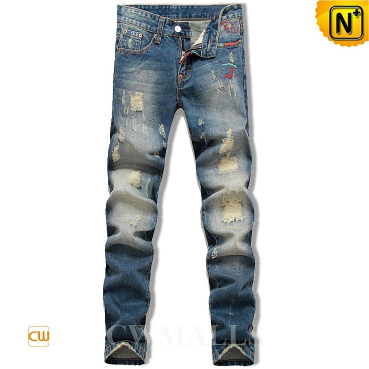 CWMALLS Ripped Skinny Jeans for Men CW106136 Classics ripped skinny jeans for men crafted from destroyed 100% cotton denim, distressed tapered Jeans finished with distressed detail and five pockets. www.cwmalls.com PayPal Available (Price: $108.89) Email:sales@cwmalls.com