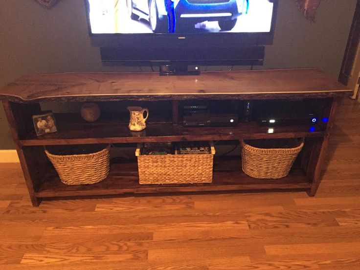 Rustic Entertainment Center by SaltyPineCraftsmen on Etsy