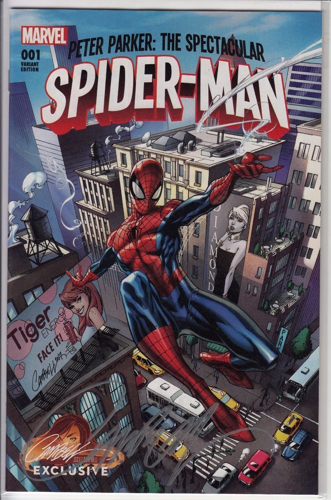 Peter Parker The Spectacular Spider-Man #1 J Scott Campbell Variant A SIGNED COA