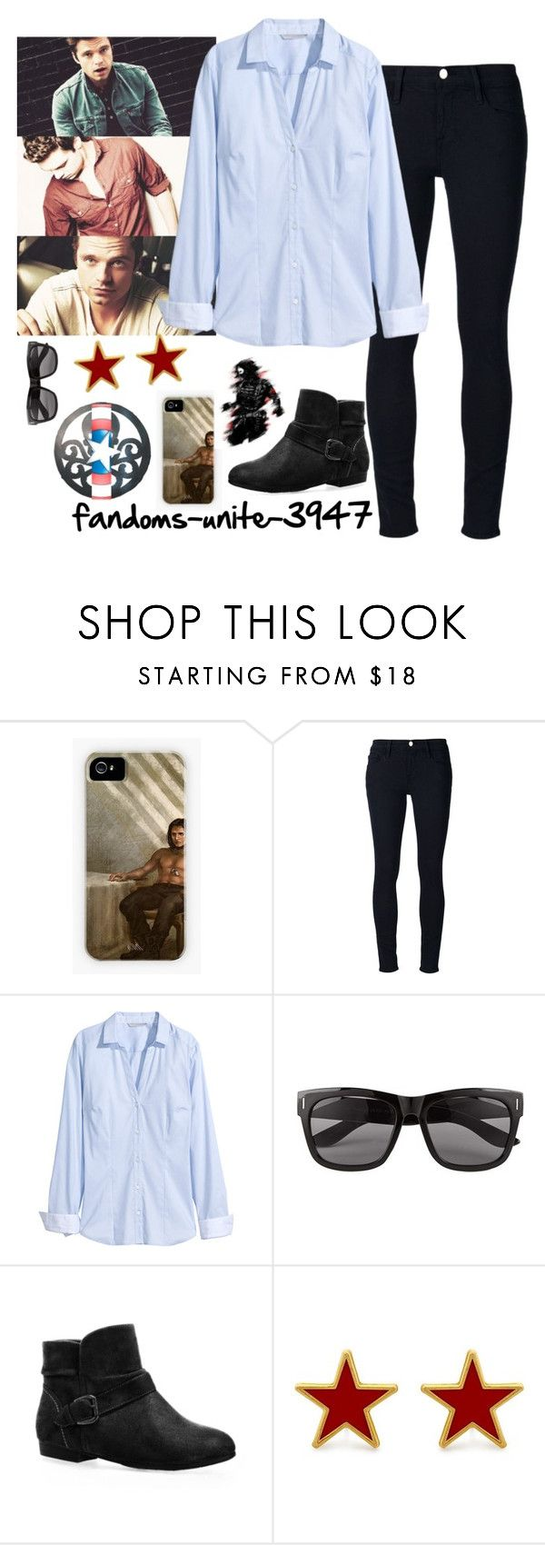 """Happy Birthday Sebastian!!!!!!!!"" by fandoms-unite-3947 ❤ liked on Polyvore featuring Mode, Frame Denim, Sebastian Professional, H&M, Vero Moda, Avenue und George & Laurel"