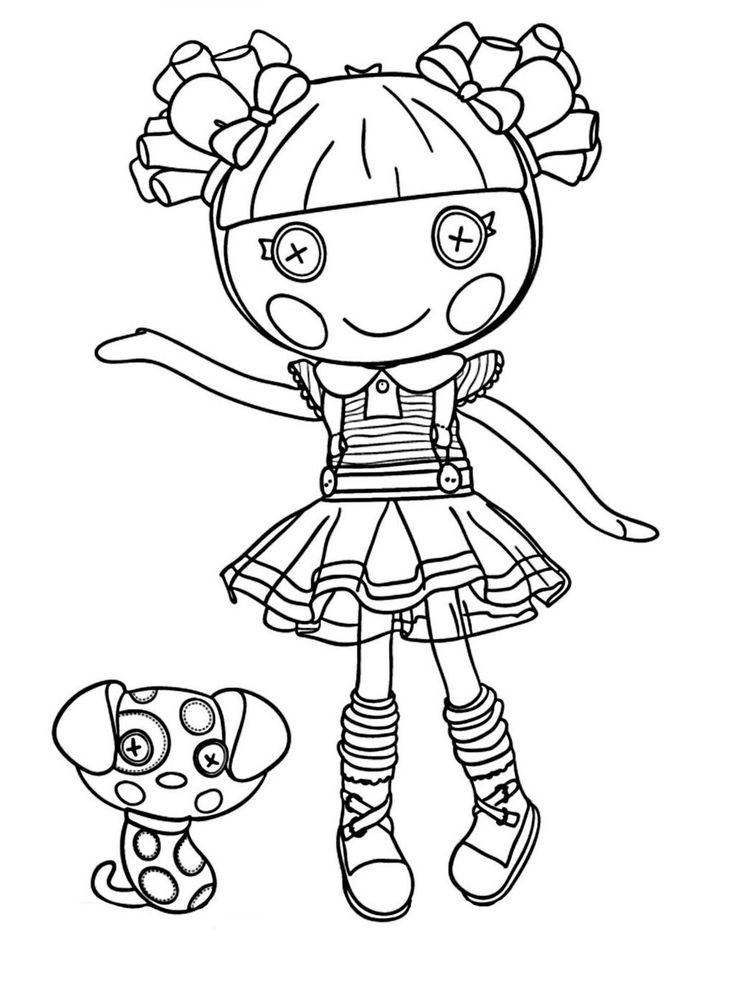 lalaloopsy alice in lalaloopsyland coloring sheet
