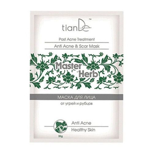 ANTI ACNE & SCARS CLEANSING MASK Cleanses effectively and eliminates scars, caused by acne. The mask normalizes excessive activity of sebaceous glands, tightens the pores and prevents acne formation. Smoothes out microrelief of epidermis, controls рН-balance. Active components of the mask relieve inflammations and redness. Remove spots and scars caused by acne. Active ingredients: • Tea tree oil – antiseptic, anti-inflammatory, bactericide effect. • Aloe Vera – cleanses, moisturizes........