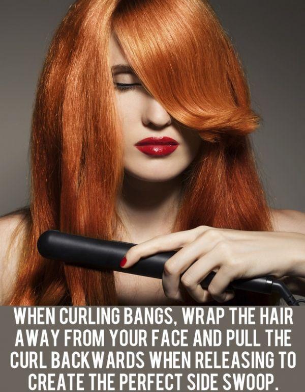 Top Tip for Curling Bangs