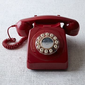 Hard to believe I could feel nostalgic about this design when I so clearly remember my thrill at the introduction of the cordless and, then, of course, the now-ubiquitous smartphone. But this truly is a thing of communication beauty: 746 Phone in red via @west elm #westelm