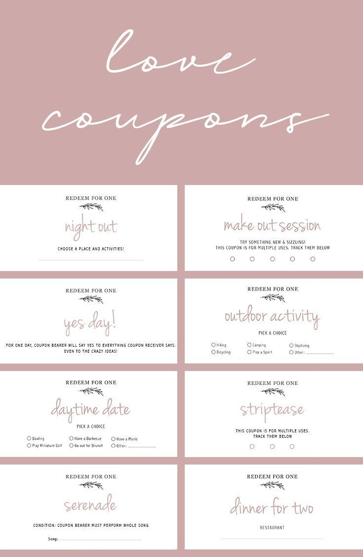 Printable Love Coupons Elephant On The Road Coupons For Boyfriend Diy Gifts For Girlfriend Love Coupons