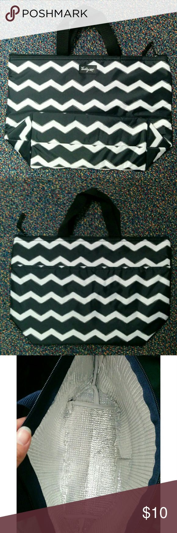 NEW Thirty One Thermal Insulated Lunch Tote Brand New insulated lunch bag by Thirty-One.  Colors are black and white. Thirty One Bags Totes