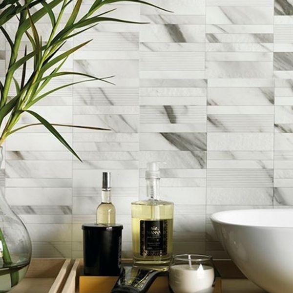 Portobello Marmi Classico, Carrara marble tile.  Mos Bianco Carrara 600x600