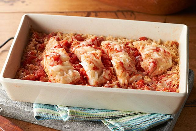 That's right - one dish is all it takes to get this fish and rice casserole on the table.  Even better - our One-Dish Italian Fish recipe is ready in 15 minutes!